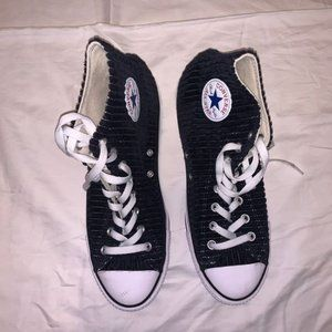 Converse Shoes - High Top Converse Ribbed Fabric Men's 9.5